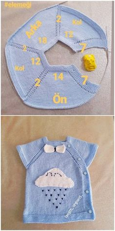 Yandan Düğmeli Bulutlu Bebek Yeleği Yapılışı Knitting For BeginnersKnitting For KidsCrochet BlanketCrochet Stitches Baby Boy Knitting, Knitting For Kids, Baby Knitting Patterns, Knitting Stitches, Easy Knitting, Crochet Baby Clothes, Baby Cardigan, Knit Vest, Baby Sweaters