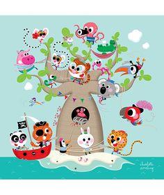 Cuadros infantiles piratas mar océano Lilipinso. Mucho más diversión, aprendizaje y cultura para niños y para toda la familia en www.solerplanet.com