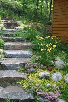 Garden Steps On A Slope Ideas Garden Stepping Stones Garden Steps On A Slope Ideas. One of the most versatile, easy to use and imaginative accessories for your garden is the stepping stone. Landscape Stairs, Landscape Design, Garden Design, Landscape Bricks, Landscape Photos, Landscape Paintings, Sloped Backyard, Sloped Garden, Backyard Ideas