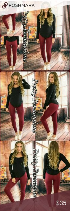 Brand New With Tags Leggings!! L/XL I just bought these from posh & they came just as pictured! They are very cute (just like the picture) Fleece lined, so very warm & super soft! They are just a little too snug for me :( I'm just trying to get my money back. I wear size 13. So I'd say these would fit small to large up to size 12. Let me know if you have any questions! TIA ;) Pants Leggings
