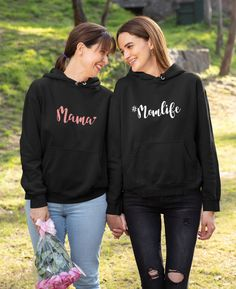 Mama sweater - Sweater gift for mom - Mothers day gift - Momlife Hoodie - Gift for Mom - Mama Sweatshirt - Trendy Mom hooded sweater Mother Day Gifts, Gifts For Mom, Shirt Mockup, Hooded Sweater, Hoodies, Sweatshirts, Mothers, Rain Jacket, Windbreaker
