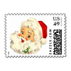 Santa Claus Design, Merry Christmas Postage Stamp