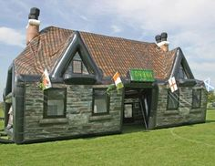 Have an INFLATABLE IRISH PUB at your next party and be the coolest person EVER!
