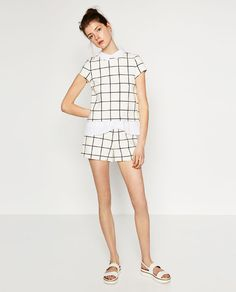 SHORT CHECKED JUMPSUIT