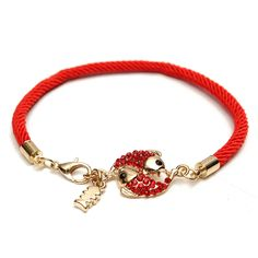 Sale 26% (3.51$) - Handmade Red String Double Fish Crystal Zircon Lucky Bracelet