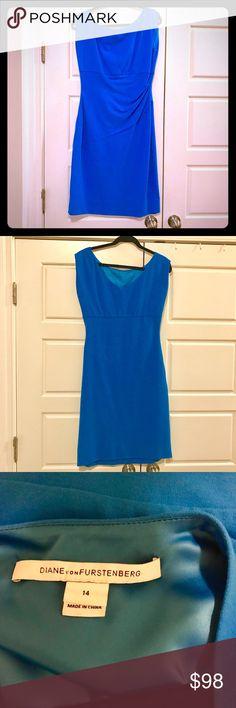 DVF Jori dress size 14 Blue Sleeveless DVF dress size 14 Diane von Furstenberg Dresses