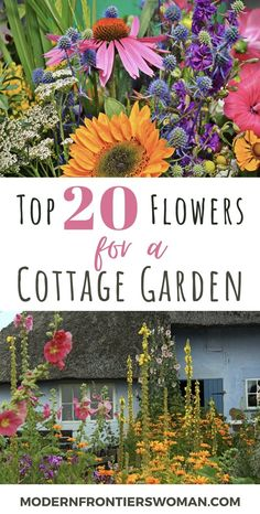 Top 20 Flowers for a Cottage Garden With height, bloom time and color in mind, you can create an enchanting cottage garden with ease. Your hard work will be repaid with a low maintenance masterpiece you can enjoy year after year. Cottage Garden Patio, Balcony Garden, Cottage Garden Borders, Small Cottage Garden Ideas, French Cottage Garden, Patio Gardens, Rustic Cottage, Rustic Gardens, Cut Flower Garden