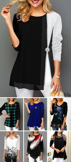 trendy tops for women online on sale Trendy Tops For Women, Mock Turtle, Who What Wear, 30th, Gowns, My Style, Tunics, Vogue, Fashion Trends