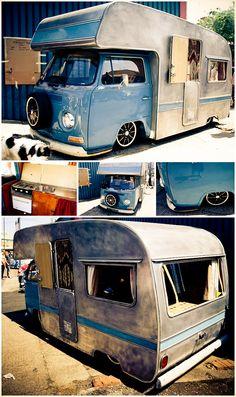 Vintage trailer remodeling and repair - Vintage painting camper caravan restoration - Kombi Trailer, Kombi Camper, Kombi Home, Truck Camper, Campervan, Volkswagen Transporter, Volkswagen Bus, Vw T1, Kombi Pick Up