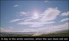 The sun never sets during an arctic summer