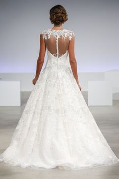 d58914434b7 anne barge fall 2017 bridal cap sleeves sheer jewel deep plunging  sweetheart neckline full embellishment sexy glamorous a line wedding dress  illusion back ...