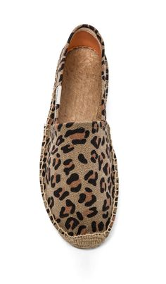 Soludos Leopard Print Flat. Perfect comfortable shoes.