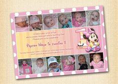 Minnie Mouse Birthday Invitation (Digital File) Minnie Mouse Invitation. $14.99, via Etsy.