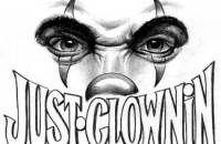 Gangster Clown Tattoos | clown tattoos,evil tattoos,eyes tattoos,face tattoos,horror tattoos
