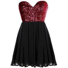 Glitter Fever Dress ($80) ❤ liked on Polyvore