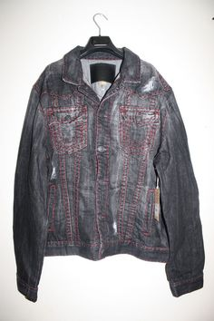 True Religion Jeans Jimmy Super T Denim Jacket 3XL XXXL DEED WORN GRANITE $379 #TrueReligion #JeanJacket
