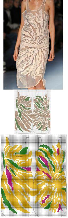 Идея для филе: платье с подиума со схемой . Обсуждение на LiveInternet - Российский Сервис Онлайн-Дневников