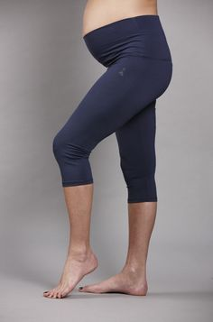 Post-prenatal yoga, Mom and Baby will want to cool down in comfort. Combining classic royal blue with soft, stretchy fabric, this pair will snugly support that baby bump every step, stride or stretch along the way. Stylish Maternity, Maternity Wear, Maternity Fashion, Pregnancy Fashion, Maternity Style, Maternity Workout Clothes, Maternity Activewear, Prenatal Workout, Pregnancy Workout
