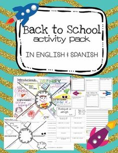 Fun activities and projects for the first week of school including a classmate interview activity where students create a poster and present them to the class. CCSS aligned :)