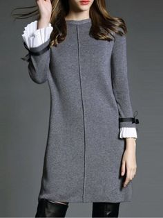 Buy Mandarin Sleeve Fancy Shift Dress online with cheap prices and discover fashion Shift Dresses at Fashionmia.com.