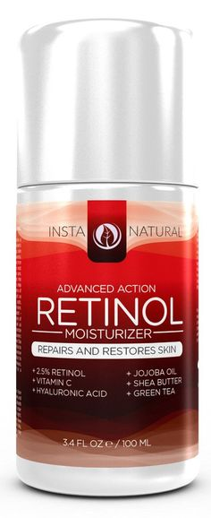 InstaNatural's Advanced Action Retinol Moisturizer contains a robust formula of handpicked ingredients designed to transform older, damaged skin into a healthier and youthful appearance.