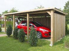 Carport selber bauen - Bildanleitung