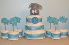 Diaper Cake For Baby Barrett