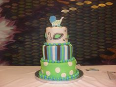 3 tier cake for a baby naming ceremony