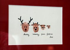 Christmas Project Wrap-up -Thumbprint Reindeer Family @Beverly Brimer
