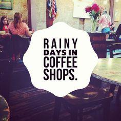 """Rainy days in coffee shops."" http://elenastiole.wordpress.com"