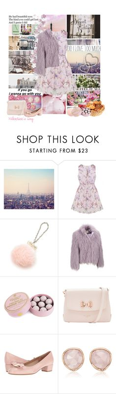 """""""Valentine's Day in Paris."""" by dovequinn ❤ liked on Polyvore featuring Chanel, Péro, GE, Charbonnel et Walker, Ted Baker, Salvatore Ferragamo, Monica Vinader and Ross-Simons"""