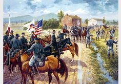"""Reynolds at McPherson's Ridge. July 1, 1863-""""TIME TO FIGHT""""-Reynolds prepares for the first day at Gettysburg-Dale Gallon"""