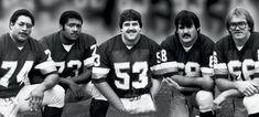 George Starke, Mark May, Jeff Bostic, Russ Grimm, Joe Jacoby...aka The (original) Hogs