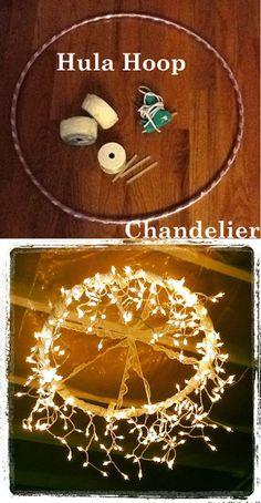diy wedding chandelier decorations with hula hoop