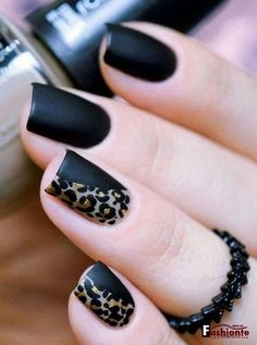 Black and leopard