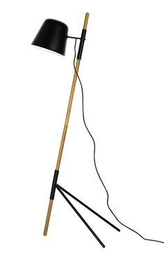 Outrigger floor lamp for a perfect reading light in your living room.