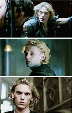 Jace Wayland-Love his looks, especially last one where watching Clary wake up looks so worried!