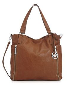 Michael Kors Large Crosby Tote in Distressed Luggage
