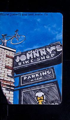 Sketchbook Project 2012  Mellow Johnny s Bike Shop 38421646c