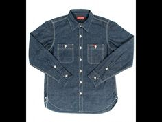IHSH-119 - Iron Heart 7oz Selvedge Chambray Work Shirt