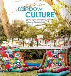 "Rainbow culture - the sun, friends and a ""lekker braai."""