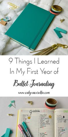 I started bullet journaling at the very beginning of 2017 and instantly fell in love with the system. I love having the ability to customize my bullet journal to my specific needs and desires! Now that I've been at this for just over a year, I've learned a few things. So today I'm sharing 9 Things I Learned in My First Year of Bullet Journaling. | Calyx and Corolla