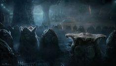 Sulaco Hive - Aliens: Colonial Marines Production Illustration - Sarel Theron Concept Art