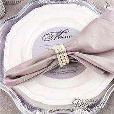 1pc Pearl Napkin Ring, Rhinestone and Pearl Stretch Loop Wedding Napkin Rings Bulk Napkin Rings Wholesale Napkin Rings, Napkin Ring 811-S-N