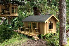 แบบบ้านไม้ทรงกระท่อมขนาด 30 ตร.ม. ตกแต่งเรียบแบบดั้งเดิม สวยงามน่ารัก   NaiBann.com