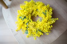 by minato, via Flickr. Wattle wreath... why I need a wattle tree infront of my house (or get friendly with 'across the road' neighbours who have a giant wattle tree :)