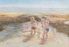 Rockpooling. Giclee print of original pastel by CarolineMcFarlane, £27.00