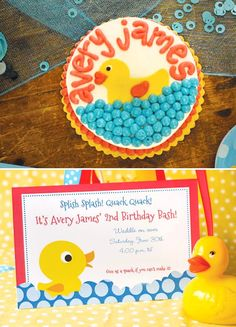 Rubber Ducky First Birthday Party - Bing images
