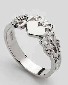 Claddagh Ring- traditionally handed down from mother to daughter, mother to daughter, mother to daughter for generations.