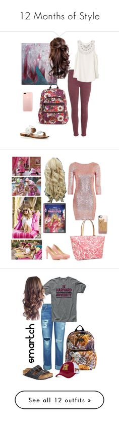"""""""12 Months of Style"""" by mirandamf on Polyvore featuring Current/Elliott, RVCA, Vera Bradley, Jack Rogers, NOVICA, Topshop, Ivanka Trump, Kate Spade, Casetify and Hello Kitty"""